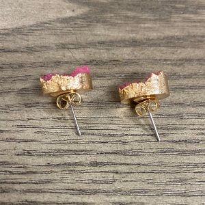 Anthropologie Jewelry - Anthropologie Druzy Quartz Stud Earrings